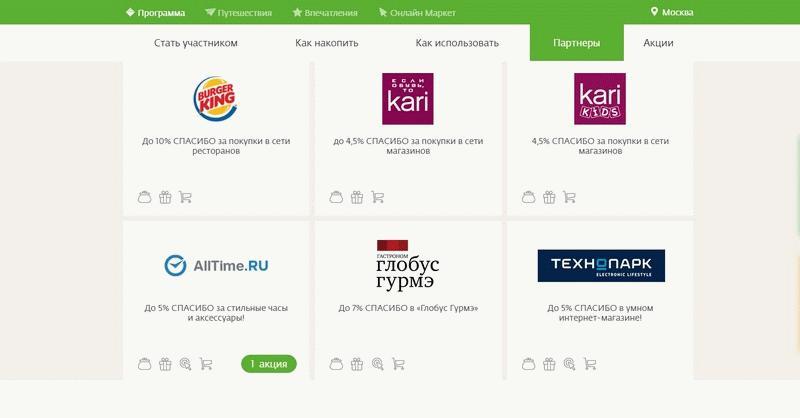 Розничные партнеры Сбербанка