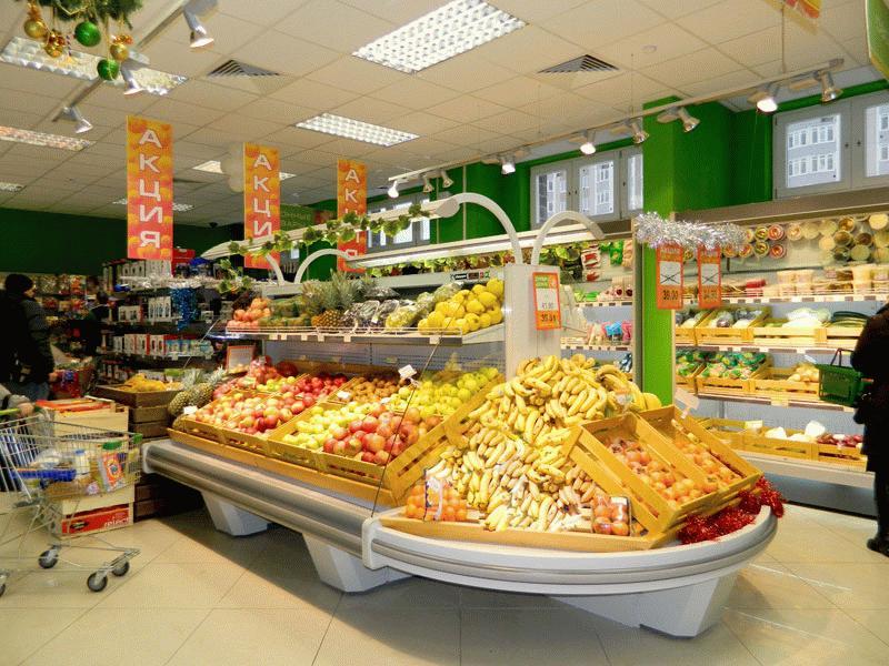 Пример оповещения об акции на продукты питания