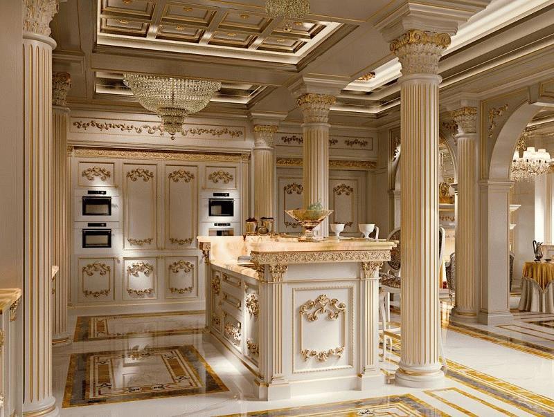 Для роскошного ампира необходим достаточный размер помещения