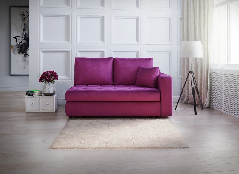 Удобный диван-еврокнижка для небольшой комнаты