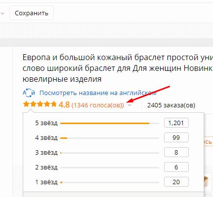 Рейтинг продавца с отзывами