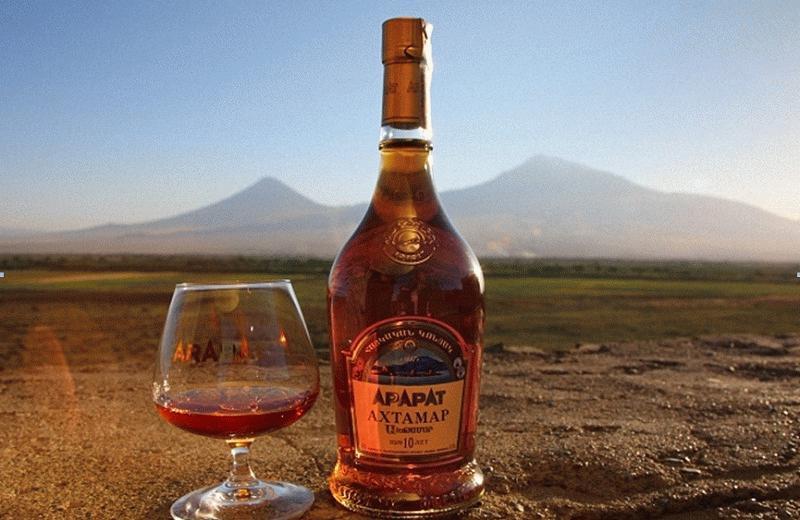 Один из видов недорогих армянских коньяков
