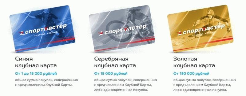 Для клиентов предлагается три типа карт с разными условиями начисления и списания бонусов