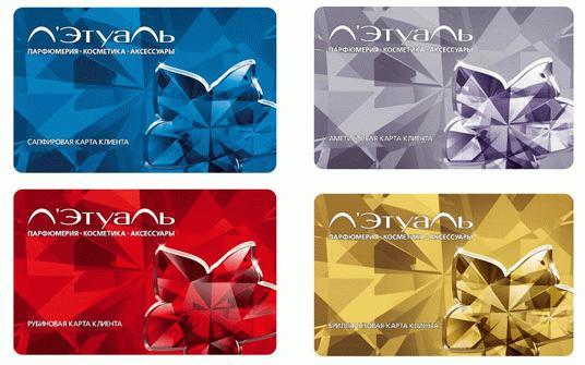 Клиенты имеют право получить один из четырех типов карт
