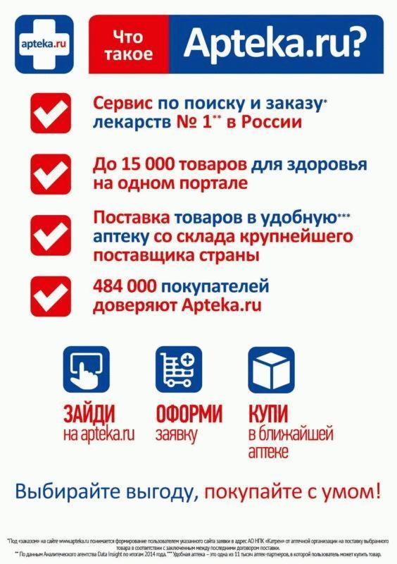 Основная информация об «Аптека.ру»