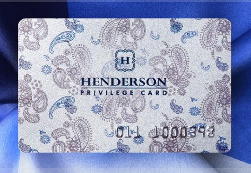 внешний вид карты привилегий Хендерсон