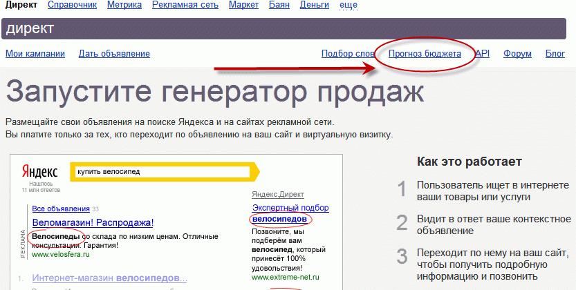 Подсчет бюджета на Яндекс.Директ