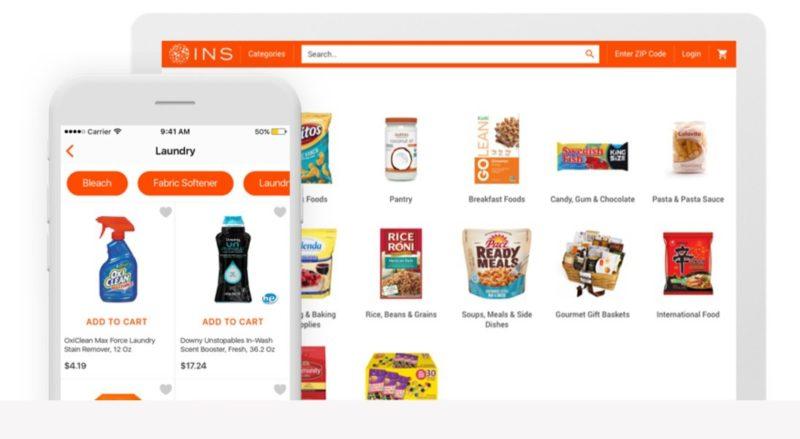 Веб-сайт и мобильное приложение Инстамарт