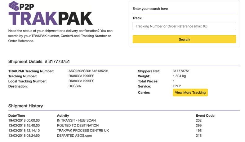 Главная страница сайта TrakPak