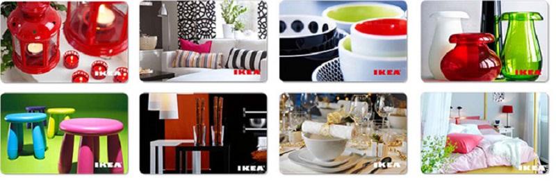 Варианты внешнего оформления подарочных карт IKEA