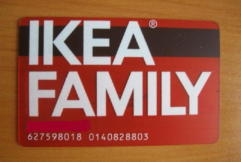 Карточка IKEA Family дает дополнительные преимущества и преференции