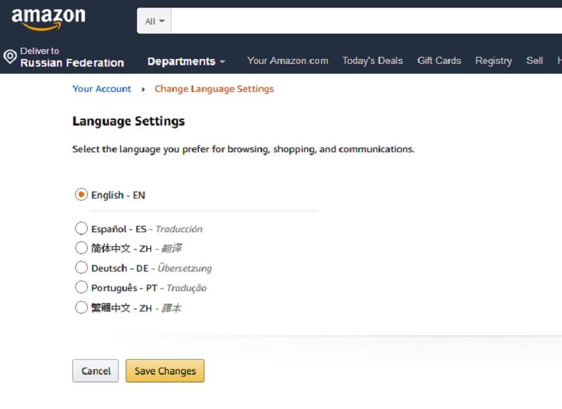 Сайт не поддерживает русский язык, поэтому российским покупателям сложно уловить все нюансы