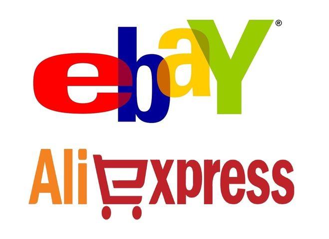 Сравнение логотипов Ебэй и Алиэкспресс